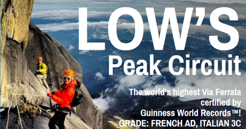 Low's Peak Circuit Via Ferrata Route Mt Kinabalu